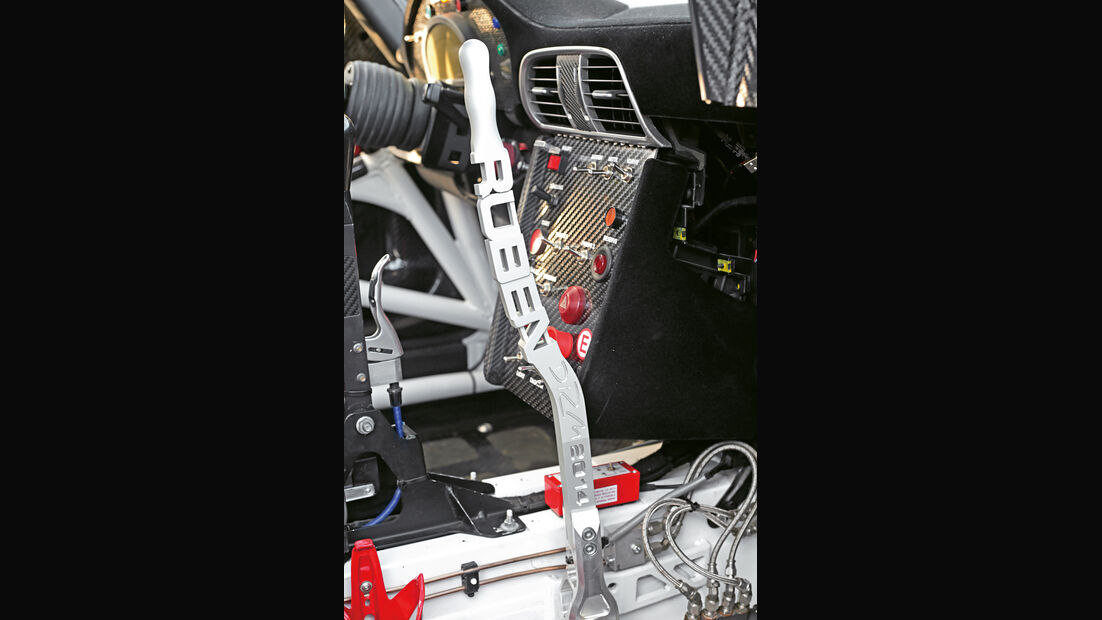Rallye-Porsche 911 GT3, Schalthebel