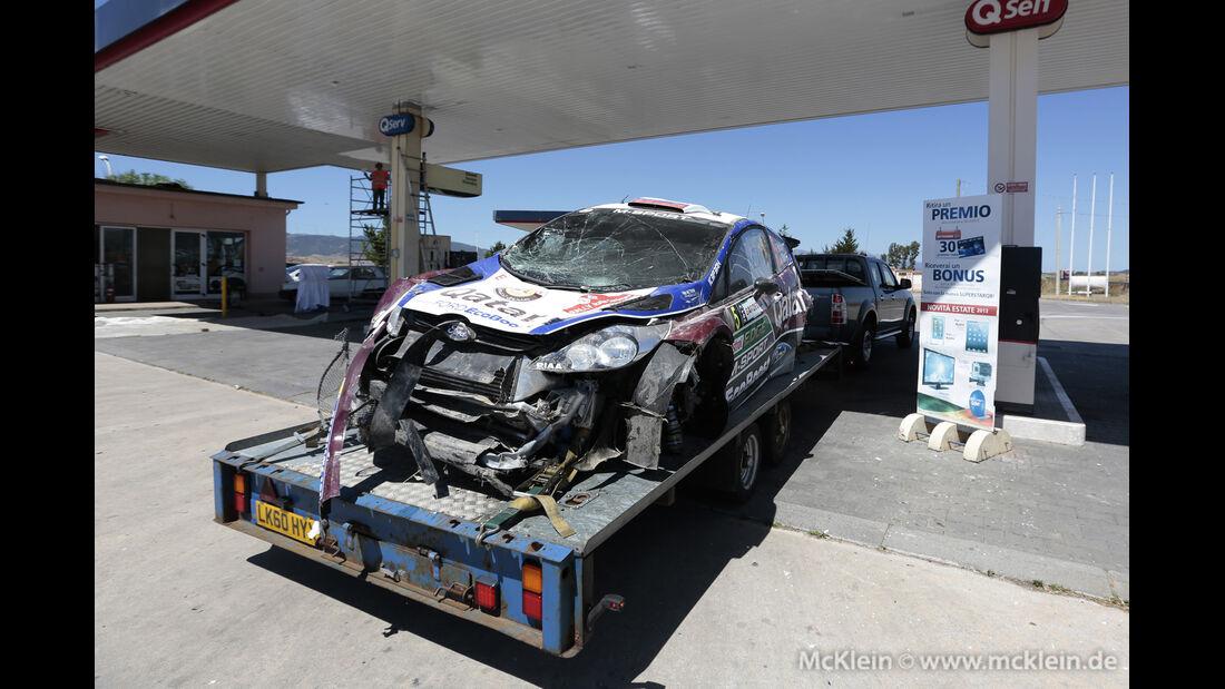 Rallye Sardinien - Crash - 2013