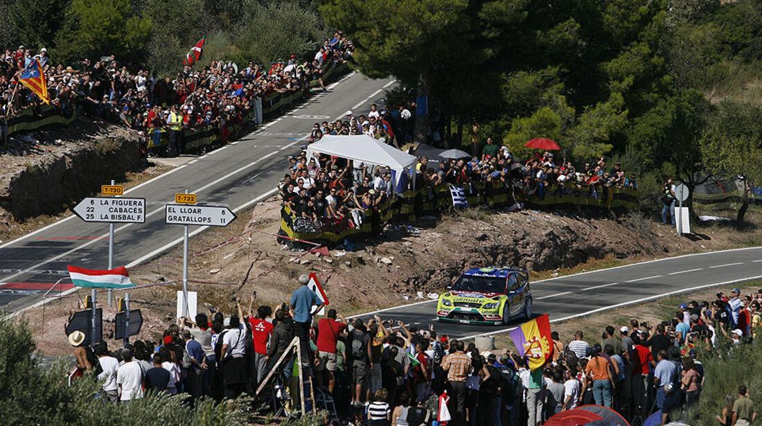 Rallye Spanien 2009 Ford Hirvonen Latvala