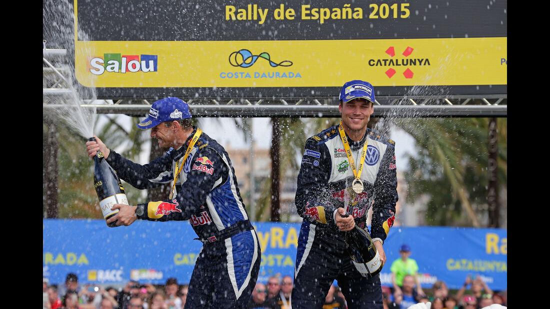 Rallye Spanien 2015 Siegerpodium Mikkelsen