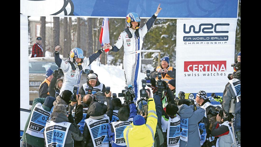 Rallye-WM, Sébastien Ogier, Siegerfeier