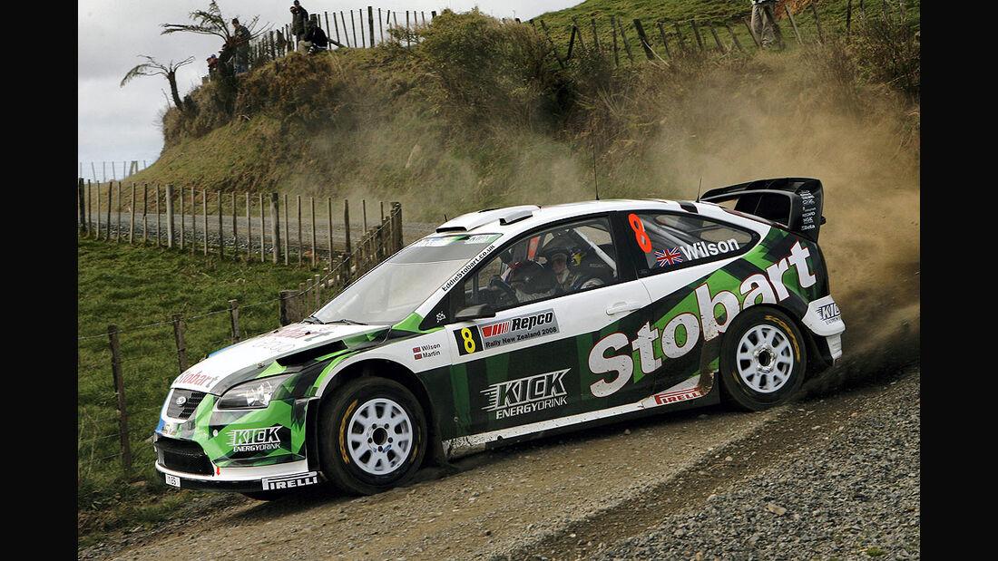 Rallyeauto von Stobart VK M-Sport Ford Rallye Team 2008
