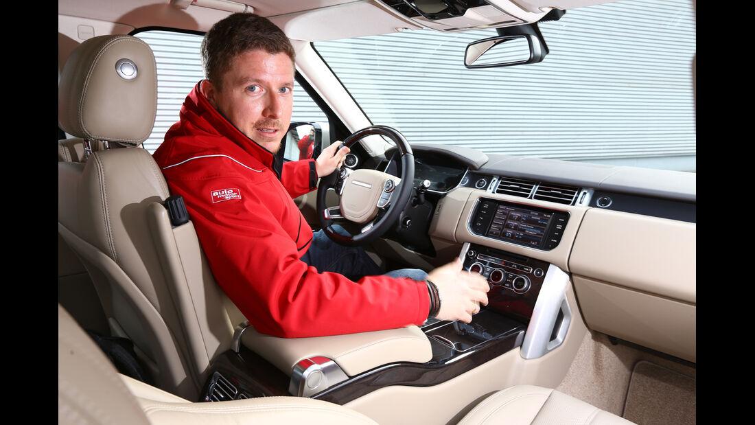 Range Rocer TDV8, Cockpit, Lenkrad, Jens Dralle
