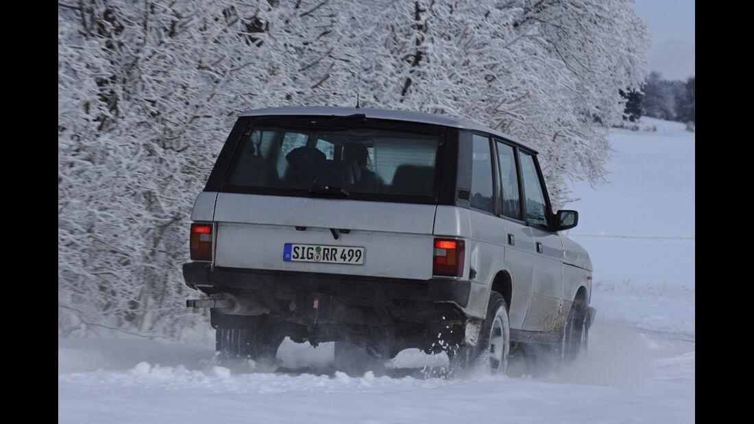 Range Rover 4.2, Heck, Schnee
