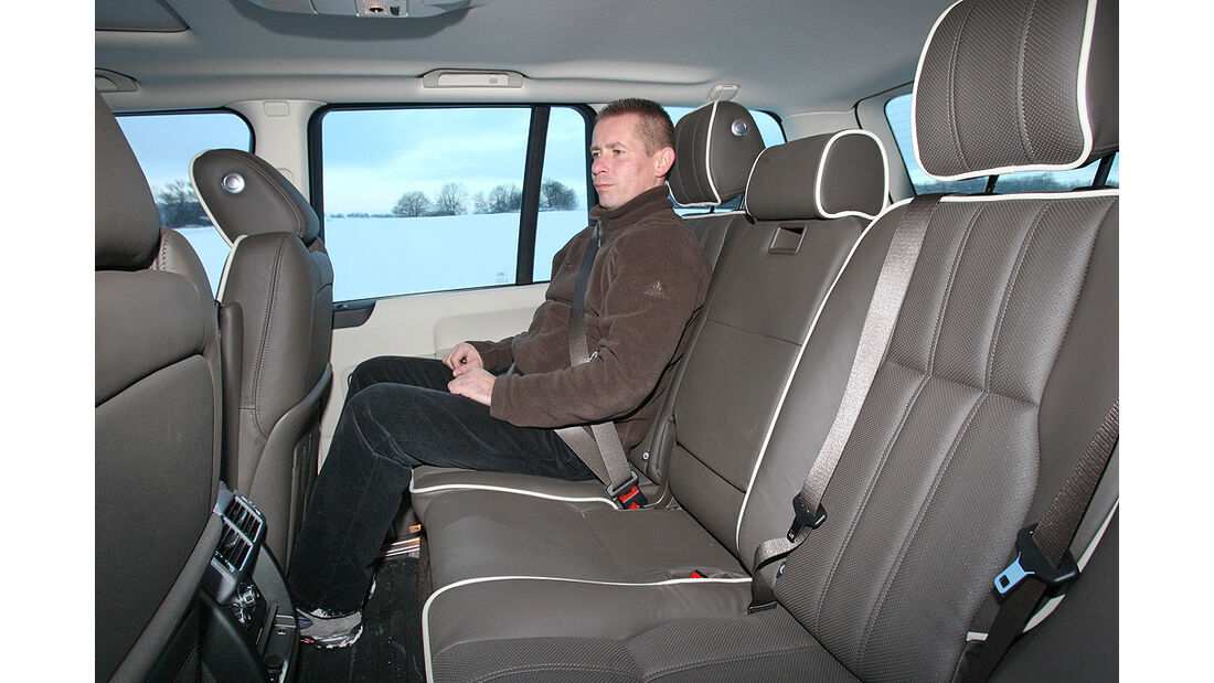 Range Rover 4.4 TDV8 Vogue, Rückbank