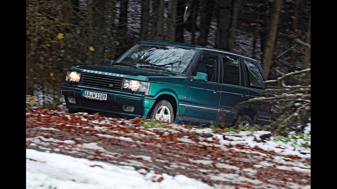 Range Rover 4.6 HSE, Seitenansicht, Wald