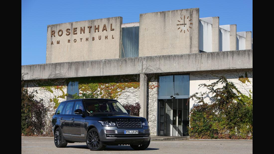 Range Rover 5.0 V8 SV Autobiography, Rosenthal, Fachschule für Porzellanindustrie