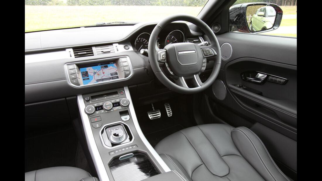 Range Rover Evoque 2.0 Si4, Cockpit, Lenkrad