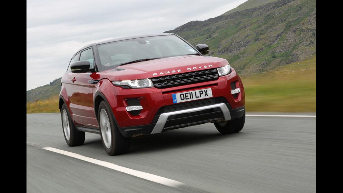 Range Rover Evoque 2.0 Si4, Frontansicht, Kühlergrill
