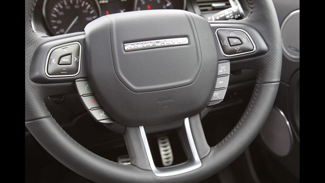 Range Rover Evoque 2.0 Si4, Lenkrad, Detail