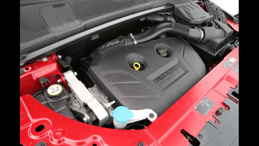 Range Rover Evoque 2.0 Si4, Motor, Motoraum