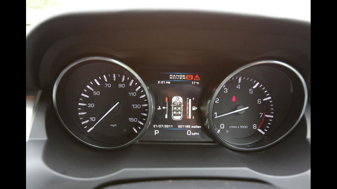 Range Rover Evoque 2.0 Si4, Tacho, Anzeigeinstrumente