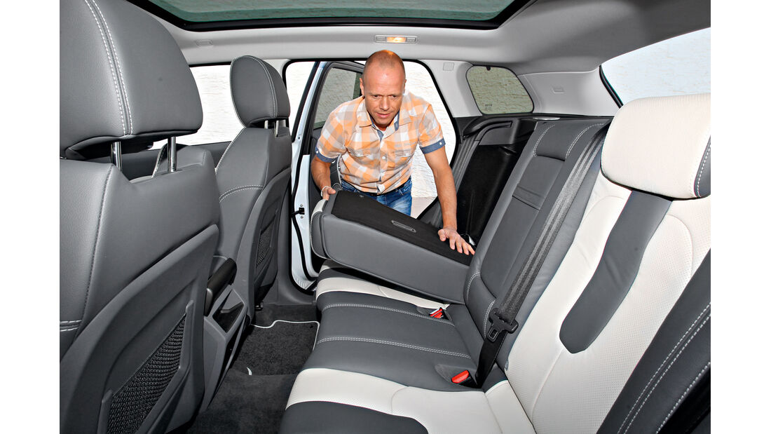 Range Rover Evoque 2.2 SD, Rücksitz, Beinfreiheit