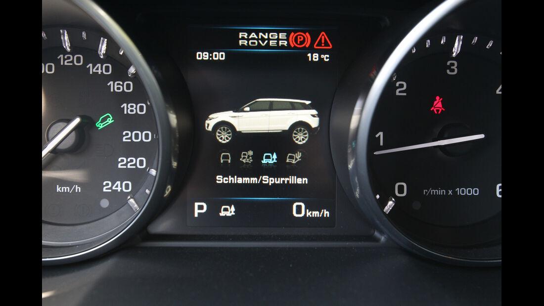 Range Rover Evoque 2.2 SD4 Dynamic, Display, Rundinstrumente