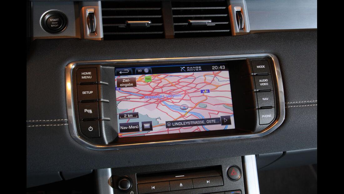Range Rover Evoque 2.2 SD4 Dynamic, Navi-Display