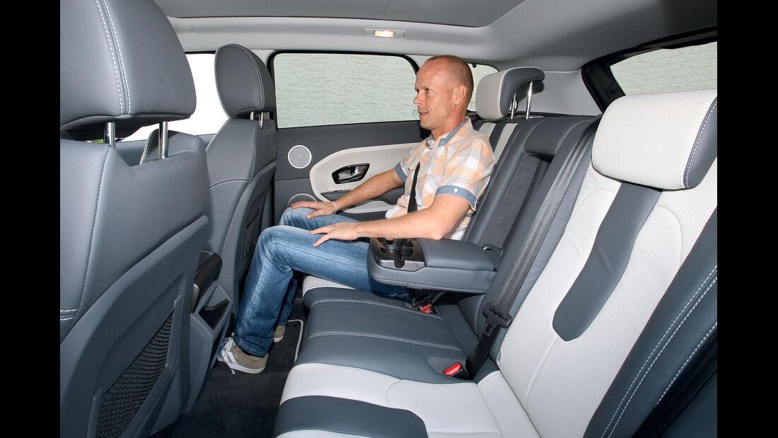 Range Rover Evoque 2.2 SD4 Dynamic, Rücksitz, Beinfreiheit