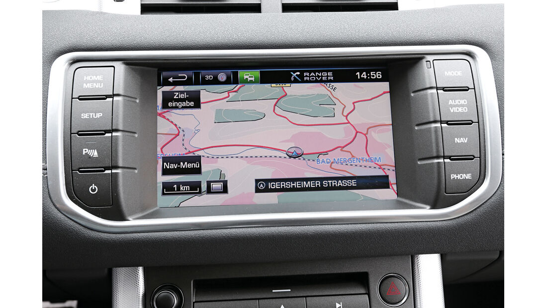 Range Rover Evoque 2.2 TD4 Dynamic, Navi, Bildschirm