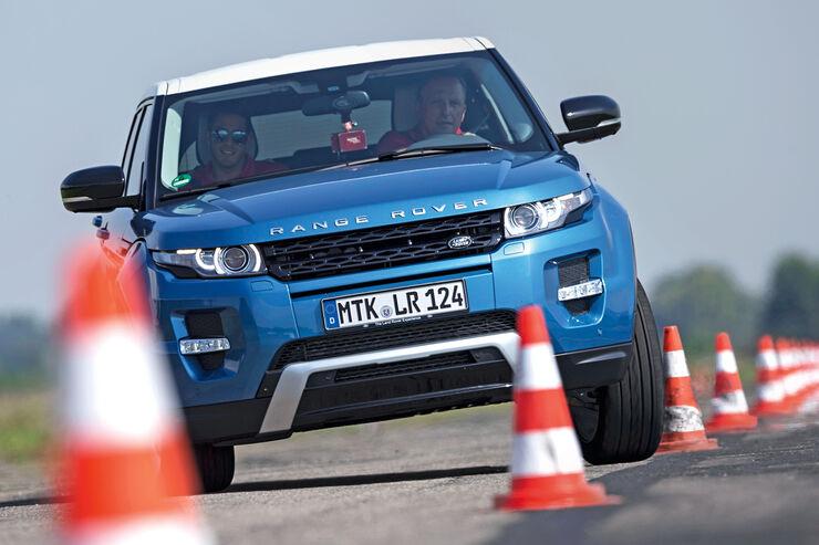 Range Rover Evoque 2.2 TD4 Dynamic, Slalom, Frontansicht