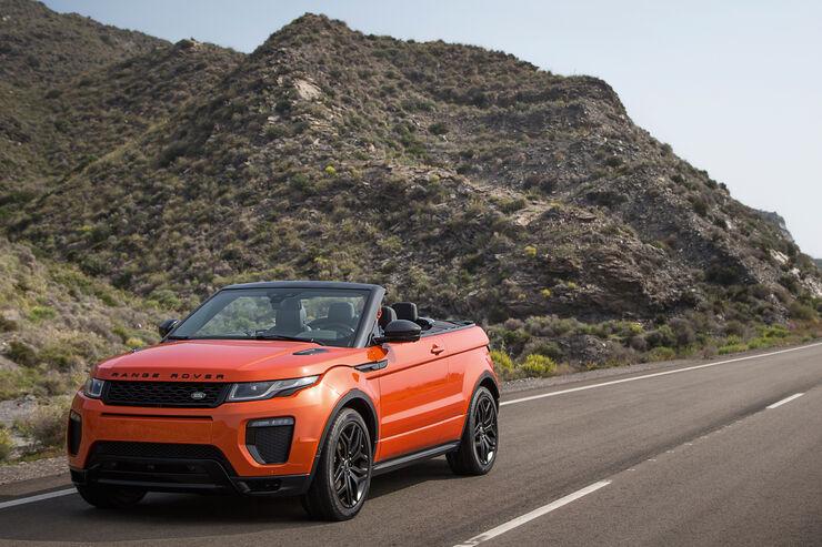 mitfahrt im range rover evoque cabrio auto motor und sport. Black Bedroom Furniture Sets. Home Design Ideas