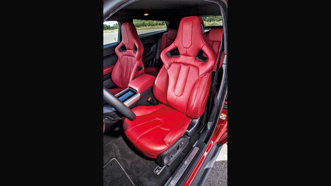 Range Rover Evoque, Fahrersitz