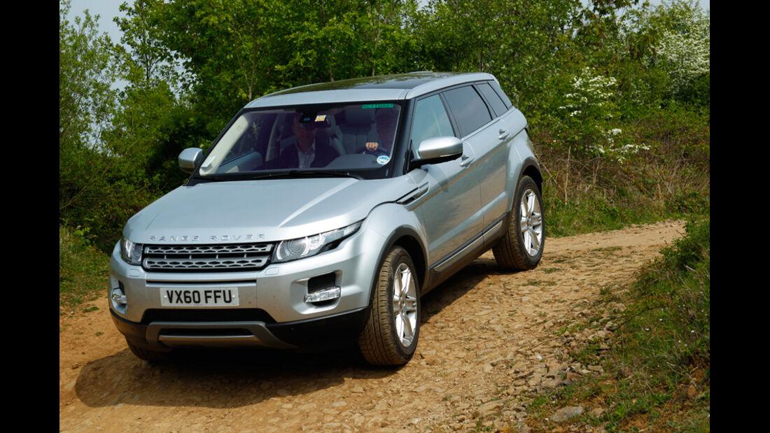Range Rover Evoque, Frontansicht, Gelände