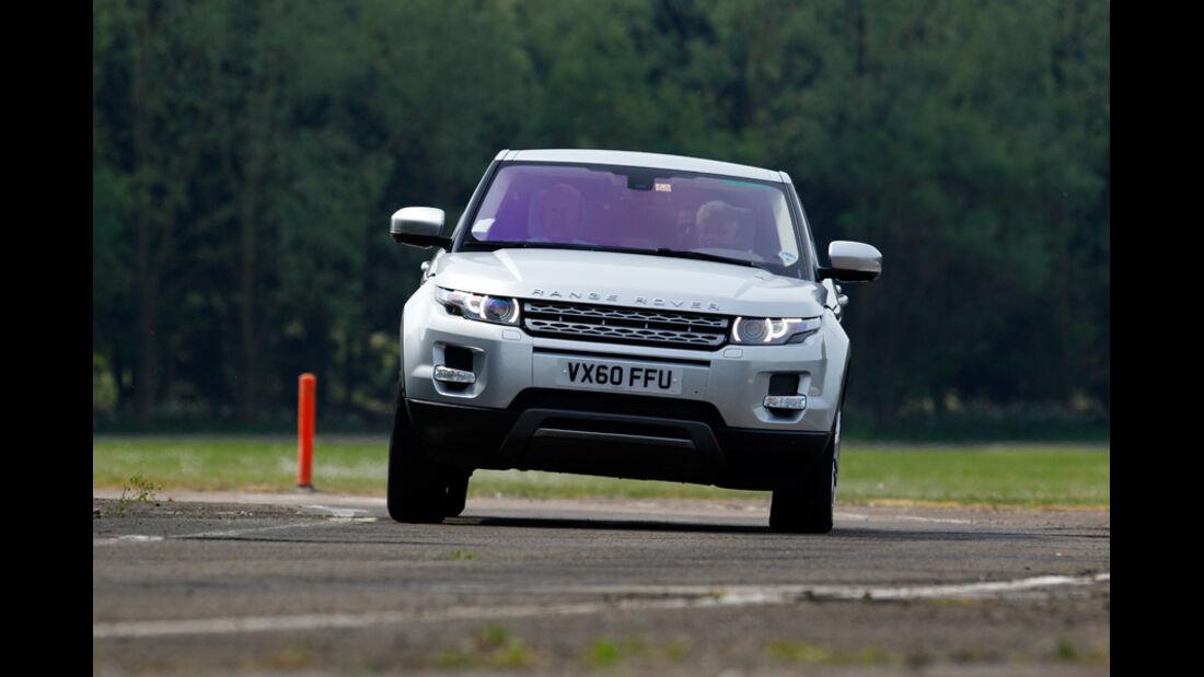 Range Rover Evoque, Frontansicht, Kurve