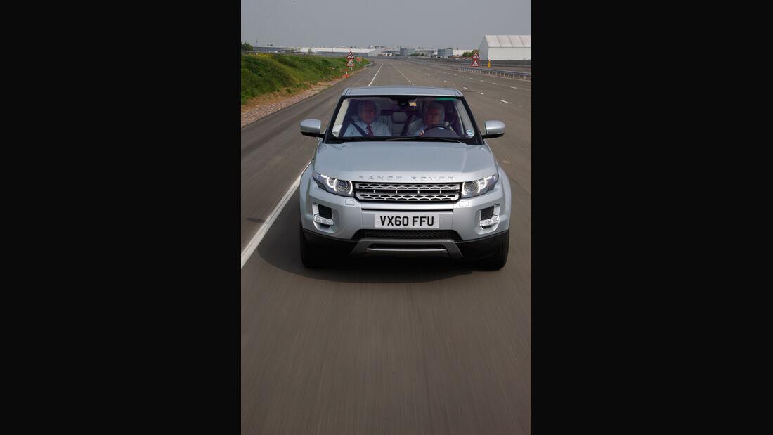 Range Rover Evoque, Frontansicht, Straße, Fahrt