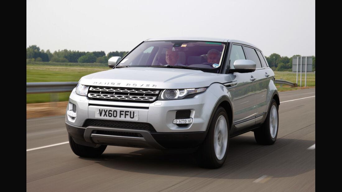 Range Rover Evoque, Frontansicht, seitlich