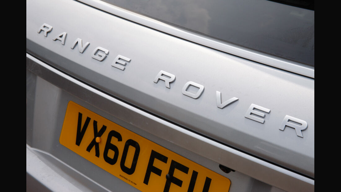 Range Rover Evoque, Heck, Schriftzug, Emblem