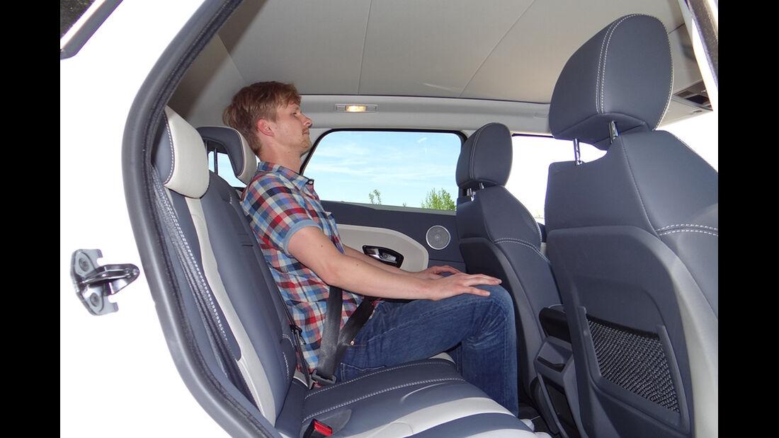Range Rover Evoque, Innenraum-Check, Fond