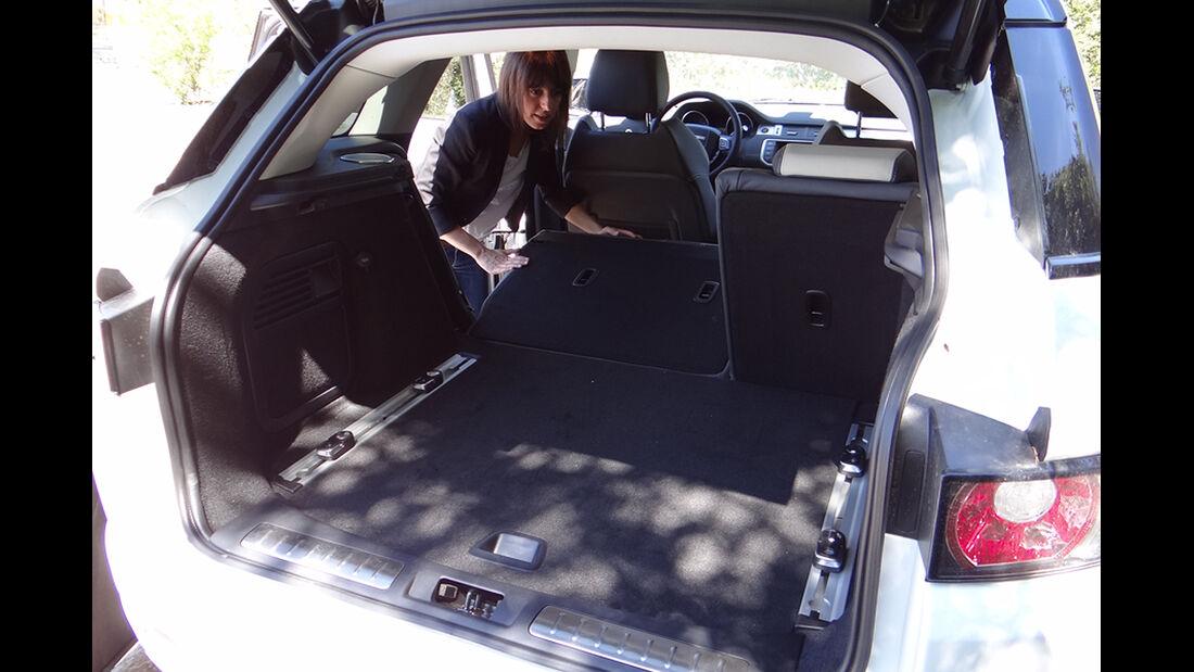 Range Rover Evoque, Innenraum-Check, Kofferraum