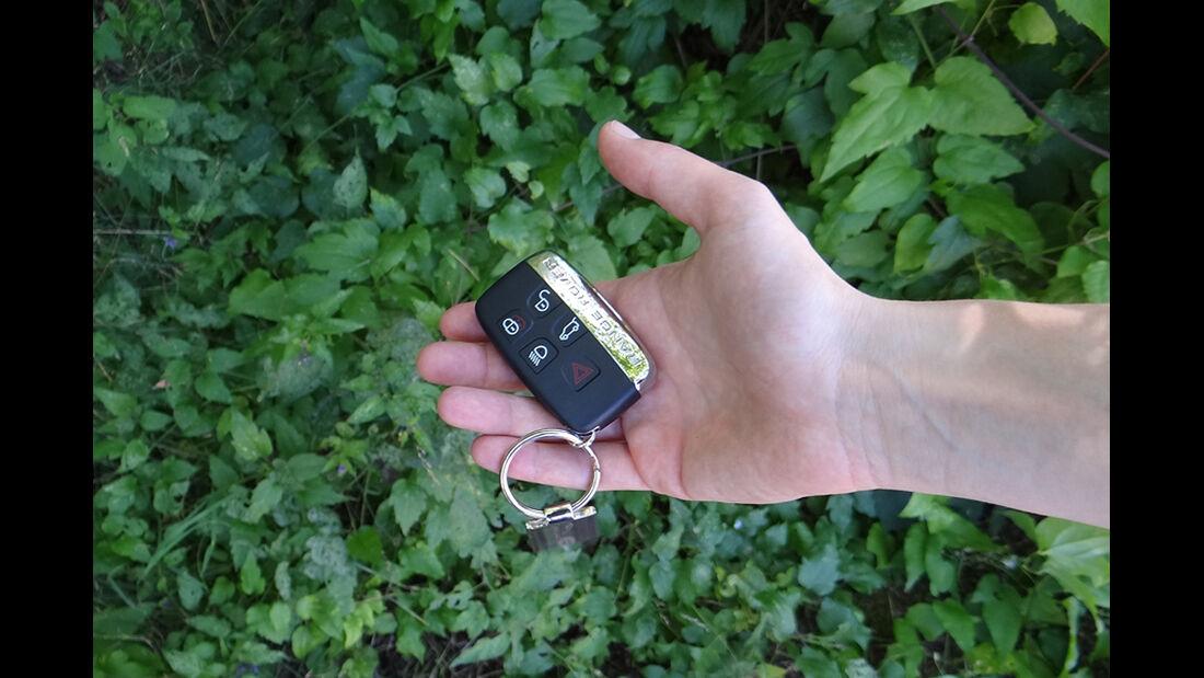 Range Rover Evoque, Innenraum-Check, Schlüssel