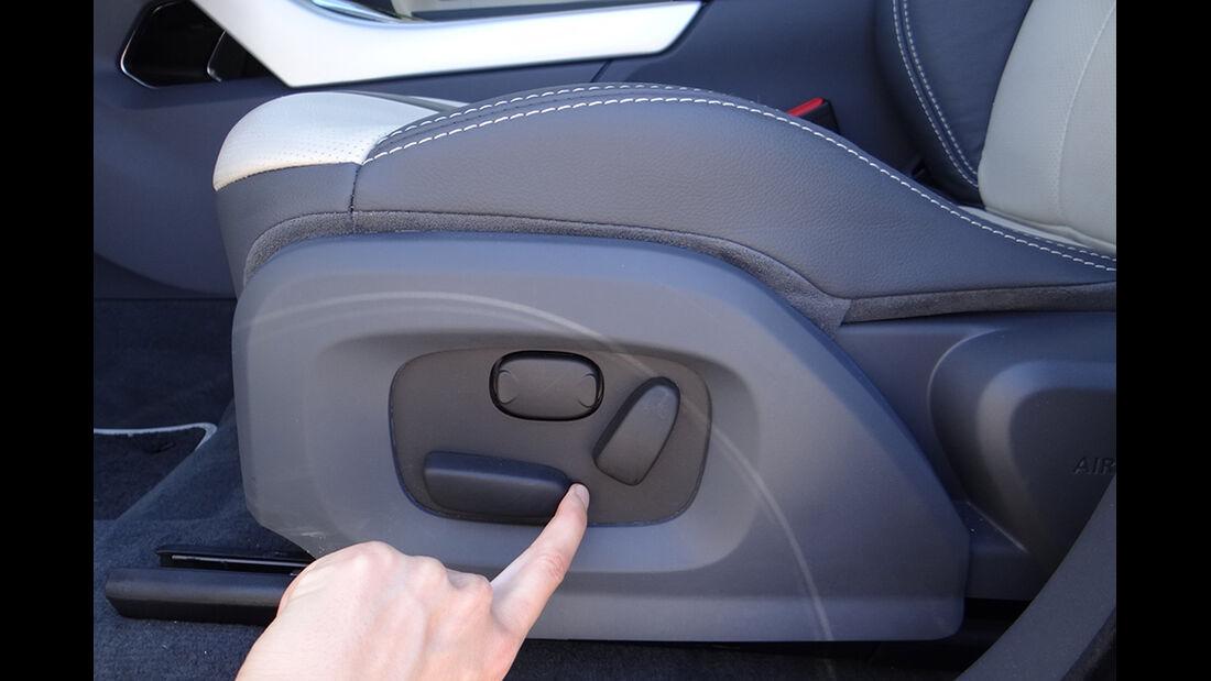 Range Rover Evoque, Innenraum-Check, Sitzposition