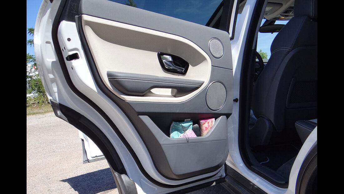 Range Rover Evoque, Innenraum-Check, Staufach, Ablage