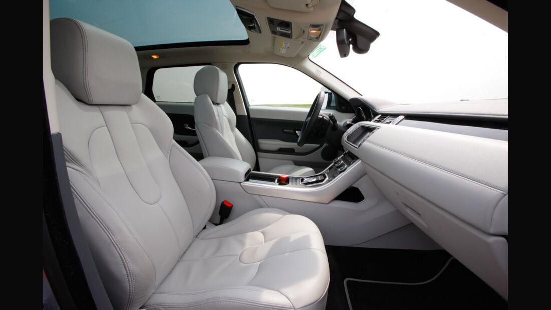 Range Rover Evoque, Innenraum, Fahrersitz