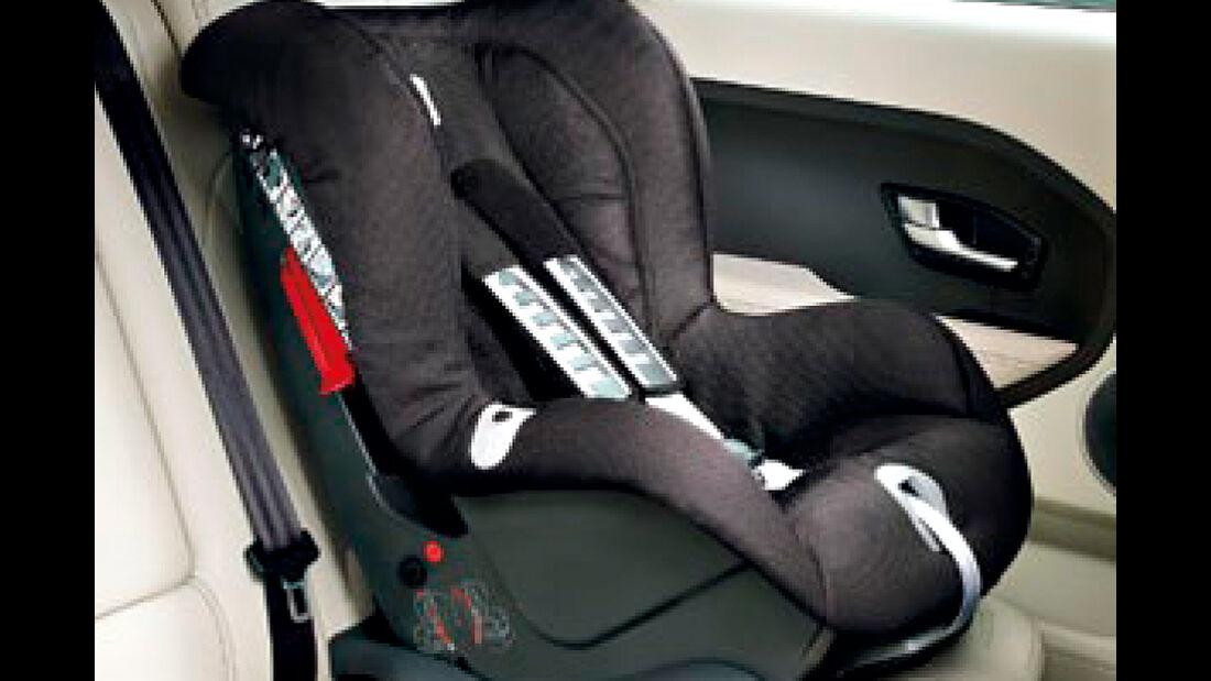 Range Rover Evoque, Kindersitz