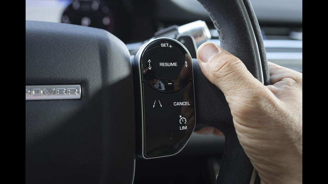 Range Rover Evoque, Lenkrad