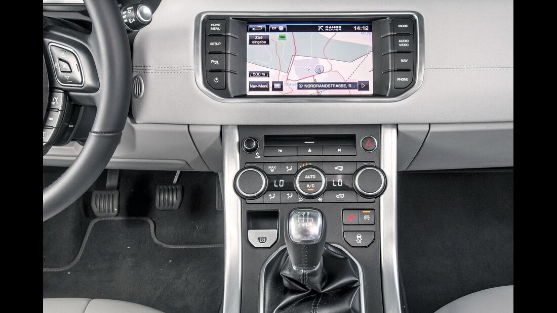 Range Rover Evoque, Mittelkonsole