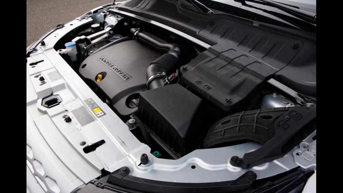 Range Rover Evoque, Motorraum, Motor