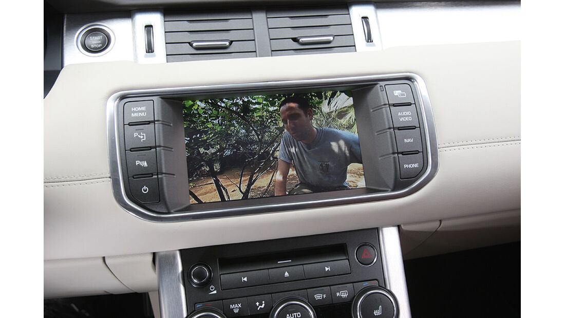 Range Rover Evoque, Rückfahrkamera, Bildschirm