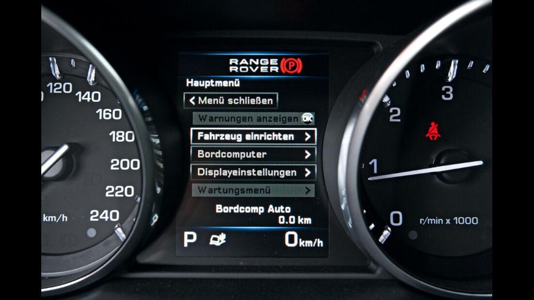 Range Rover Evoque SD4, Display