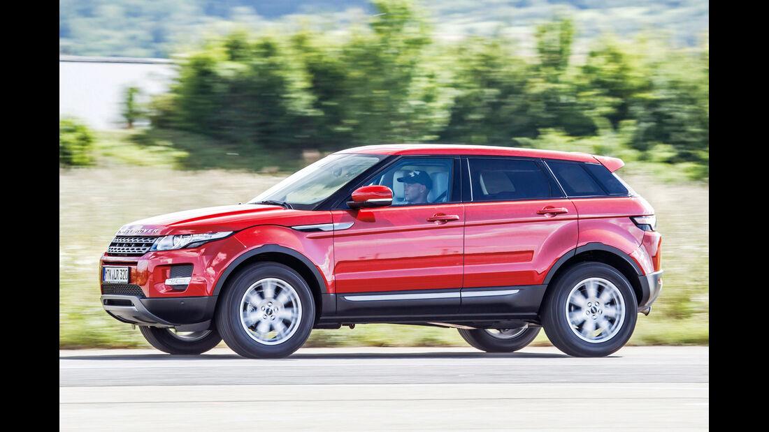 Range Rover Evoque, Seitenansicht