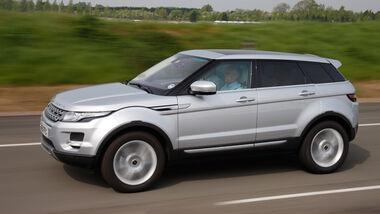 Range Rover Evoque, Seitenansicht, Fahrt