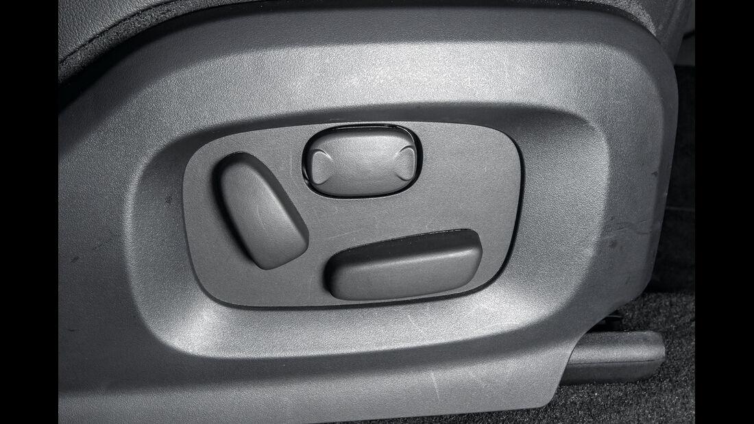 Range Rover Evoque, Sitzverstellung