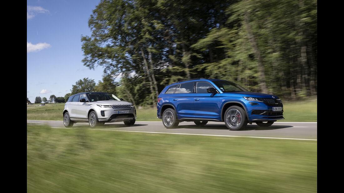 Range Rover Evoque, Skoda Kodiaq RS, Exterieur