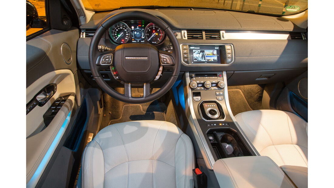 Range Rover Evoque TD4, Cockpit