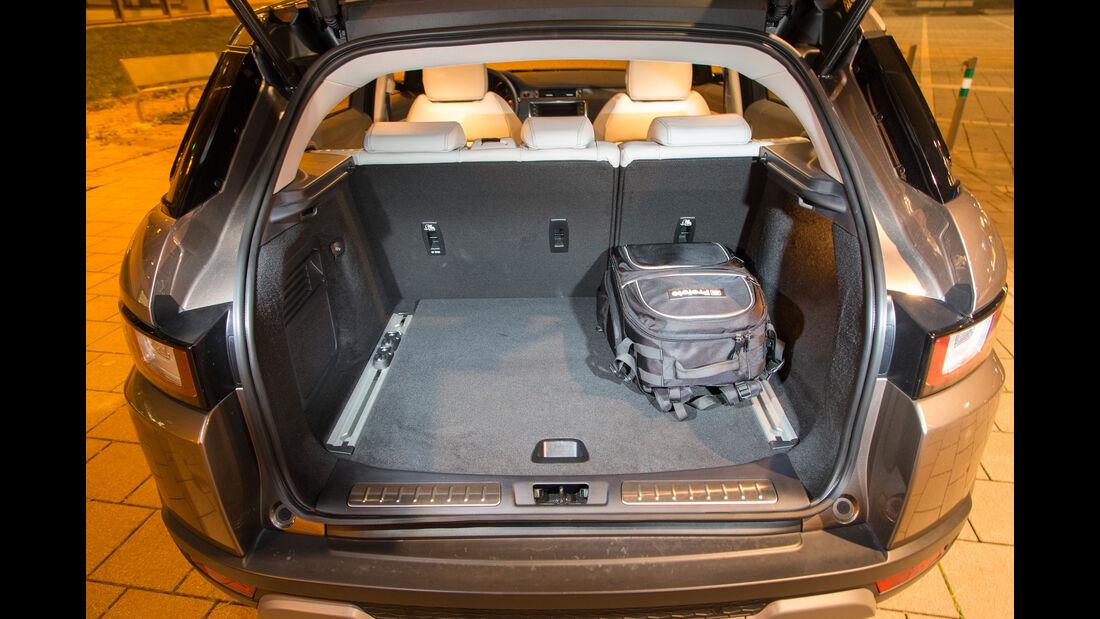 Range Rover Evoque TD4, Kofferraum