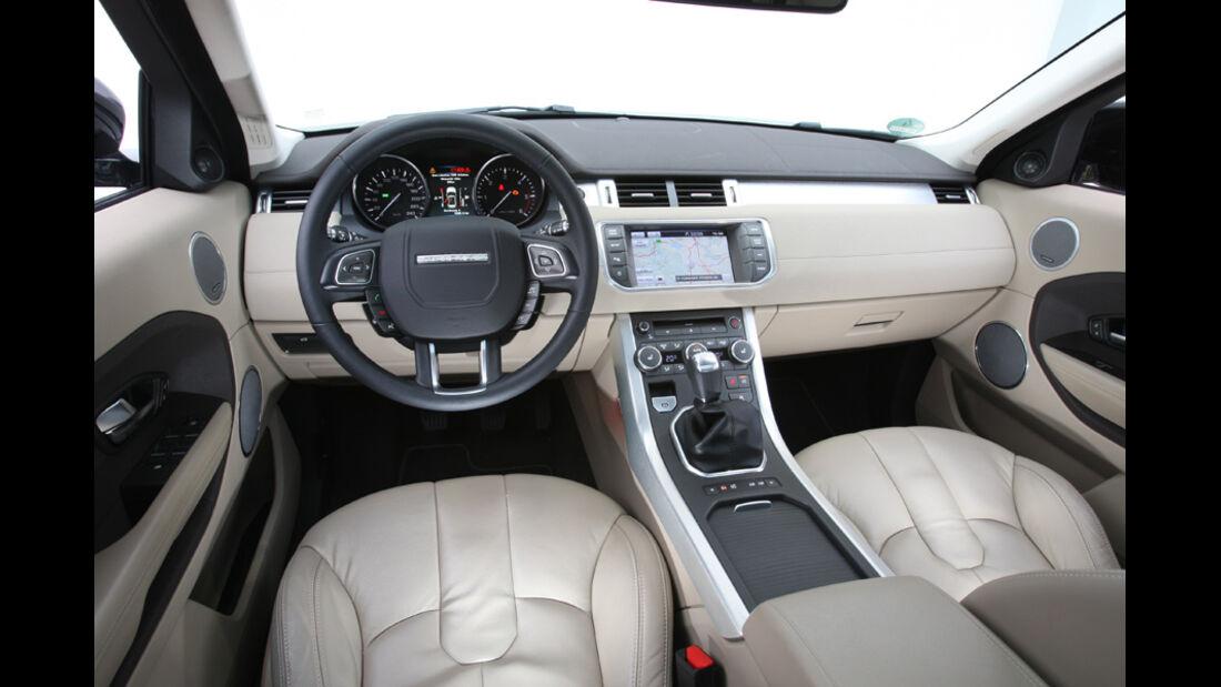 Range Rover Evoque TD4 Pure, Innenraum