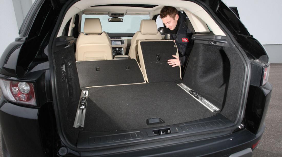Range Rover Evoque TD4 Pure, Ladefläche