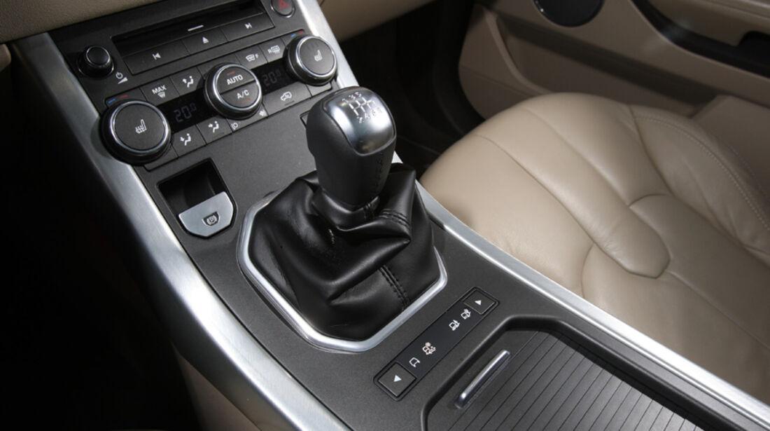 Range Rover Evoque TD4 Pure, Mittelkonsole